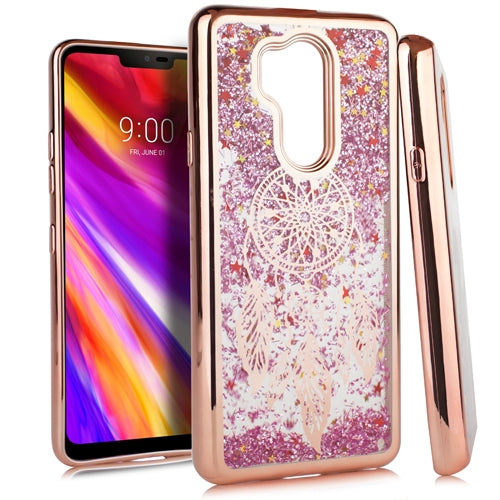 LG G7 ThinQ CHROME Glitter Motion Dream Catcher ROSE GOLD