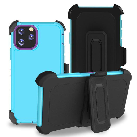 Phone Case iPhone 12 Pro Max With Belt Clip (Teal/pink)