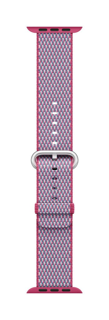 Apple 38mm/40mm Berry Check Woven Nylon Strap