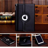 For iPad 9.7 2018 2017 / iPad Air 1 Air 2 Case - 360 Degree Rotating Stand Protective Cover with Auto Sleep Wake - Black