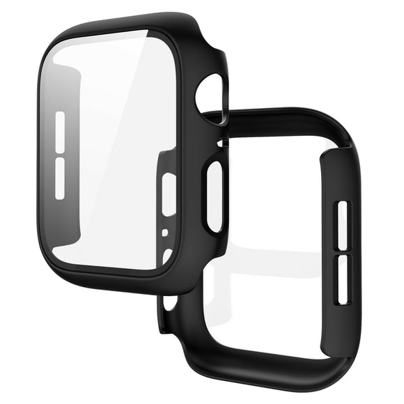 Apple Watch Glass Protector Case Cover Size 44mm Black