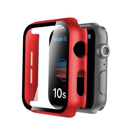Apple Watch Glass Protector Case Cover Size 44mm Red