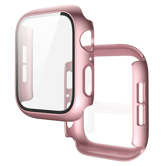 Apple Watch Glass Protector Case Cover Size 44mm Rosegold