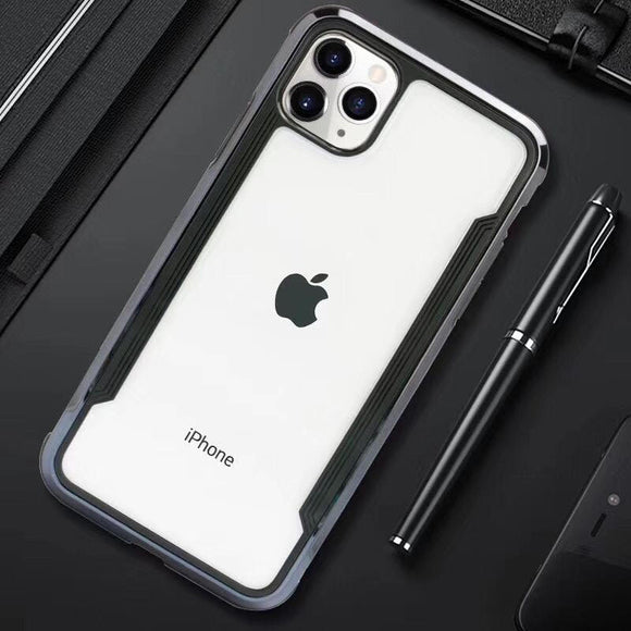 iPhone 11 Pro Max Electroplated Black/Clear case