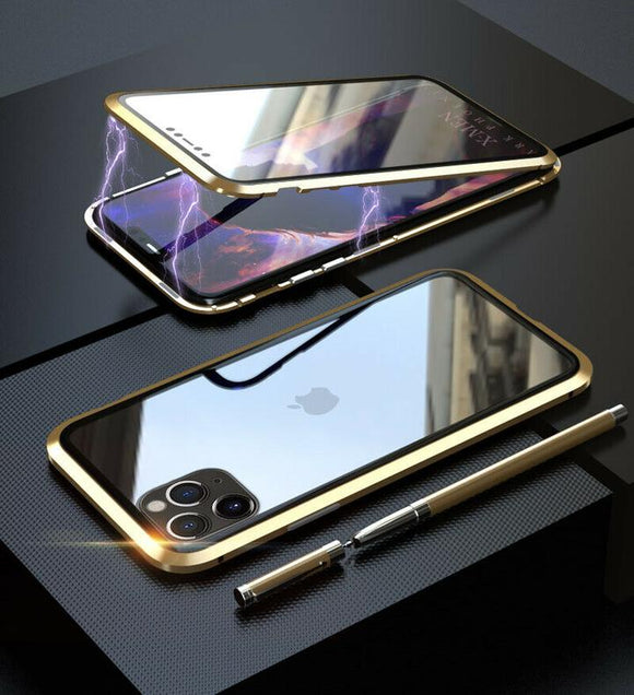 Privacy Magnetic Glass Case iPhone 11 pro (Gold)