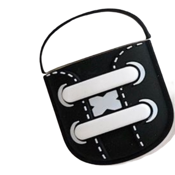 Airpods 1/2 Shoe case (Black/White)