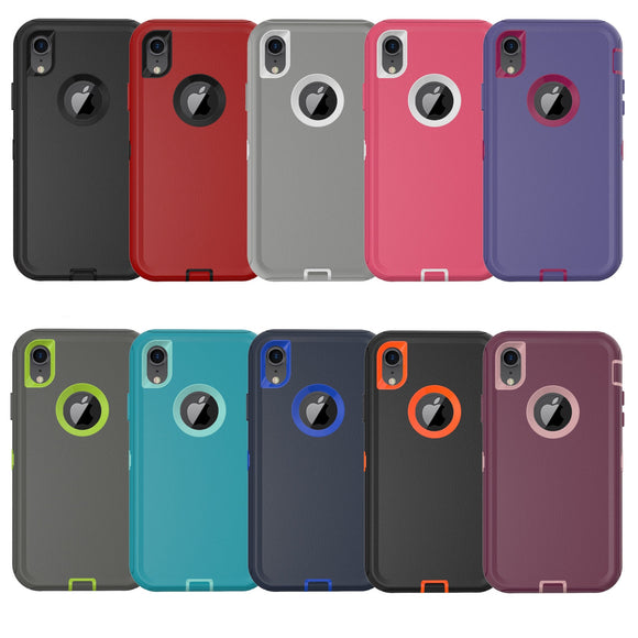 Phone case iPhone XR Armor Cover Case With the Belt Clip -