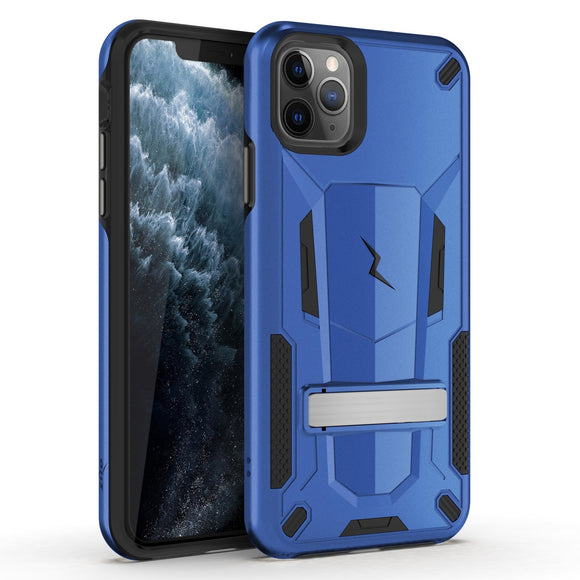 ZIZO TRANSFORM IPHONE 11 PRO (2019) CASE - BUILT-IN KICKSTAND AND UV COATED PC/TPU LAYERS-Black- Blue/Black