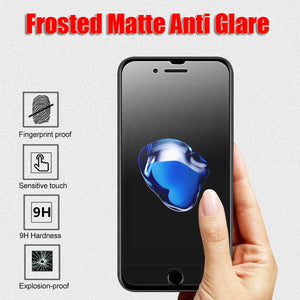 Anti Glare Matte Screen Tempered Glass Protector For iPhone 7/8