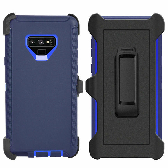 Phone Case Samsung Galaxy Note 9 Case Cover w/ Belt Clip Fits Otterbox Defender - Blue
