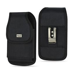 Vertical Rugged Pouch In Black Velcro Closure With Cardboard Packaging
