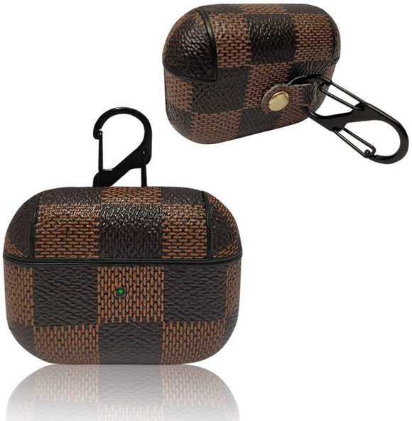 Airpod Pro Plaid Brown checker