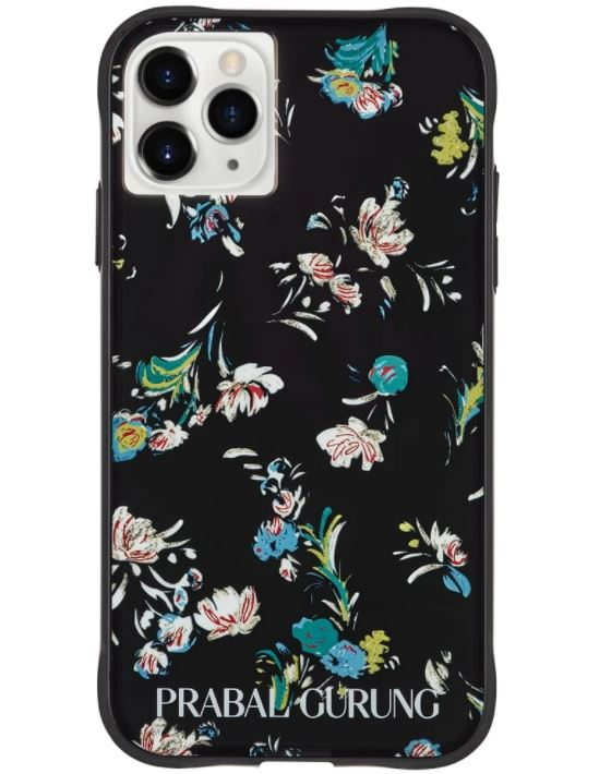 Prabal Gurung  Black Floral Case IPhone 11 Pro