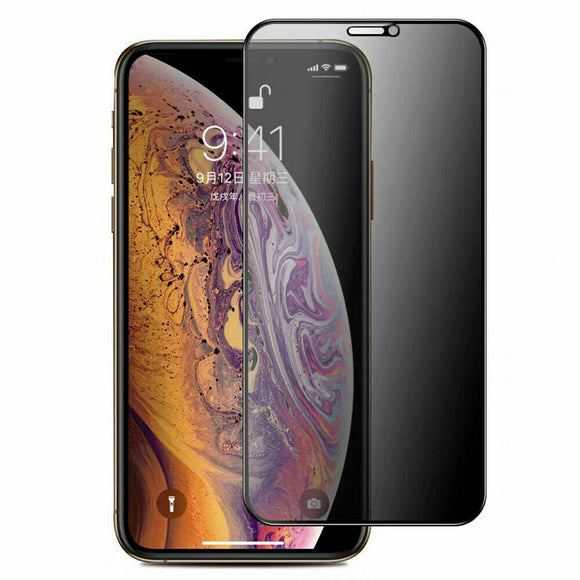 iPhone 11 Pro/Xs/X Full Cover Privacy Full Glue Tempered Glass