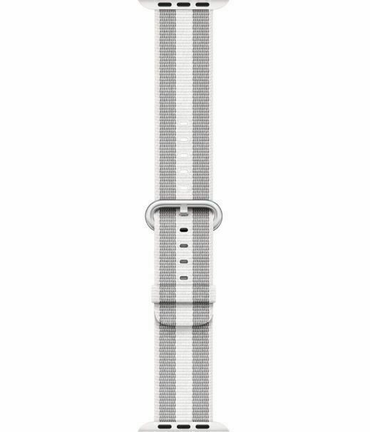 Apple 38mm/40mm Woven Nylon Band Watch Strap for Watch - White Stripe