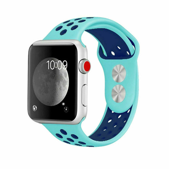 Apple Watch Sport band 38 mm 40 mm wrist band apple series 5/4/3/2/1 universal - Teal/Blue