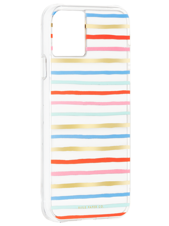 Rifle Paper Co Color Stripe Case for iPhone 11 Pro Max and XS Max