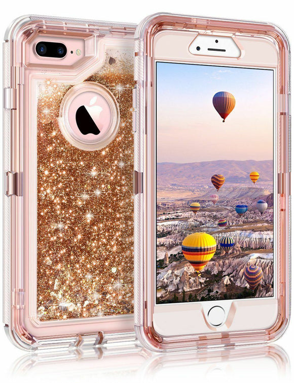 Phone Case Glitter iPhone 7/8 Plus Case - Rose Gold