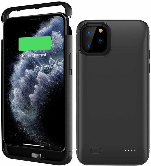 Black Smart Stand Battery Power Phone Case-iPhone 11 Pro