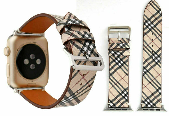 Apple Watch Band 42/44 mm Plaid Sand