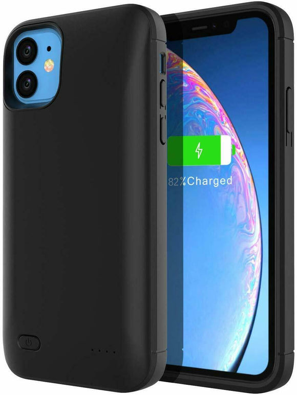 Black Smart Stand Battery Power Phone Case -iPhone 11