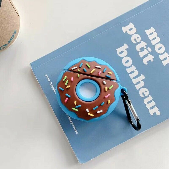 Airpods Silicone Skin- Donut Blue