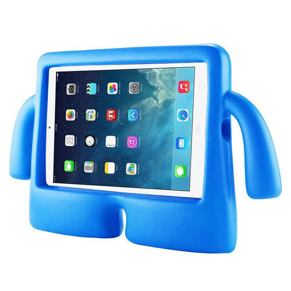 IBUY Kids Safe Rubber Shockproof EVA Foam Stand Case Cover for Apple iPad Air3/ Pro10.5/iPad 10.2 -Blue