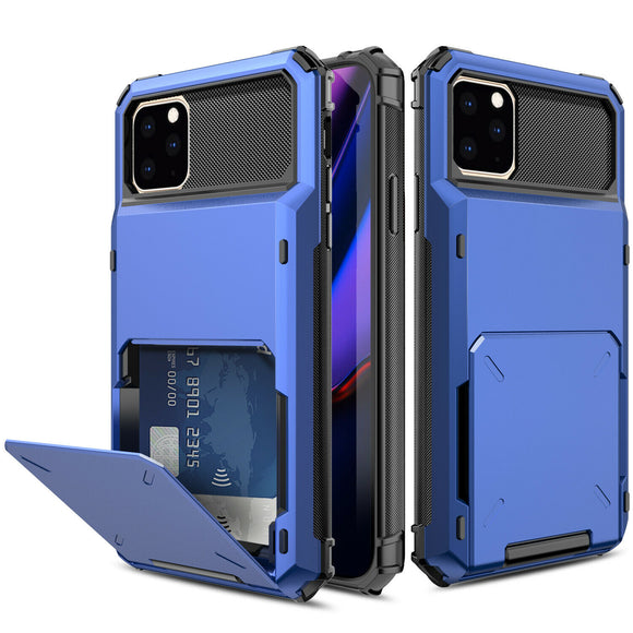 iPhone 11 Pro Max Credit Card Hyrbid case - Blue