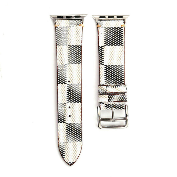 Apple Watch Band 42/44 mm Plaid White