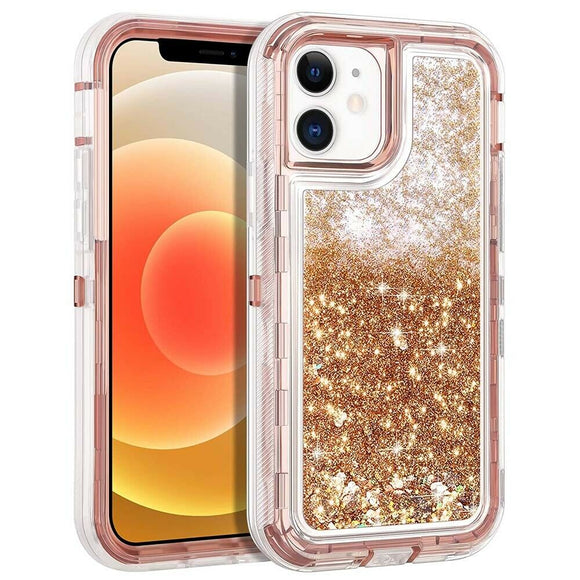 Phone Case Glitter iPhone 12 / 12 Pro (6.1) Case - Gold
