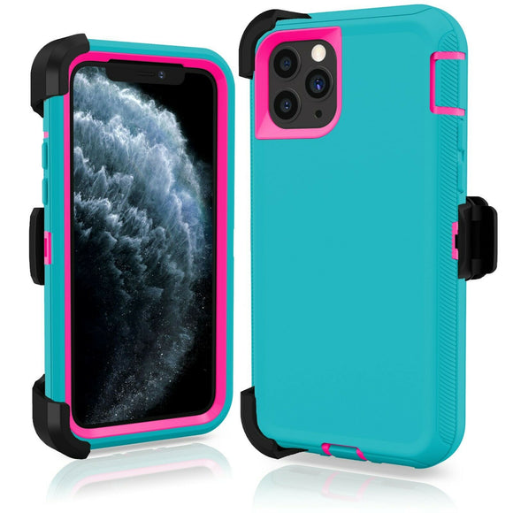 Phone case iPhone 11 Pro Teal/Pink