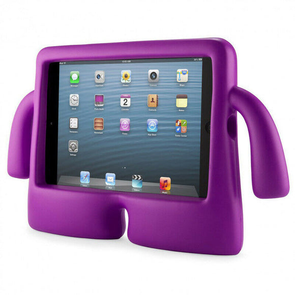 IBUY Kids Safe Rubber Shockproof EVA Foam Stand Case Cover for Apple iPad Air3/ Pro10.5/iPad 10.2- Purple