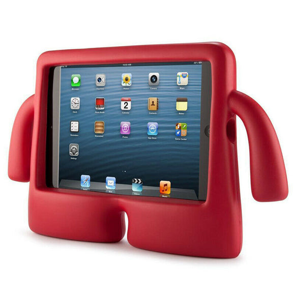 IBUY Kids Safe Rubber Shockproof EVA Foam Stand Case Cover for Apple iPad Air3/ Pro10.5/iPad 10.2- Red