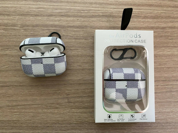 Airpod Pro Plaid Creme checkers