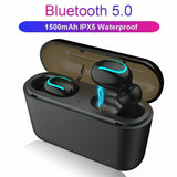 HBQ-Q32 Wireless Bluetooth 5.0 TWS Mini Headset Stereo Headphone IPX5 Waterproof