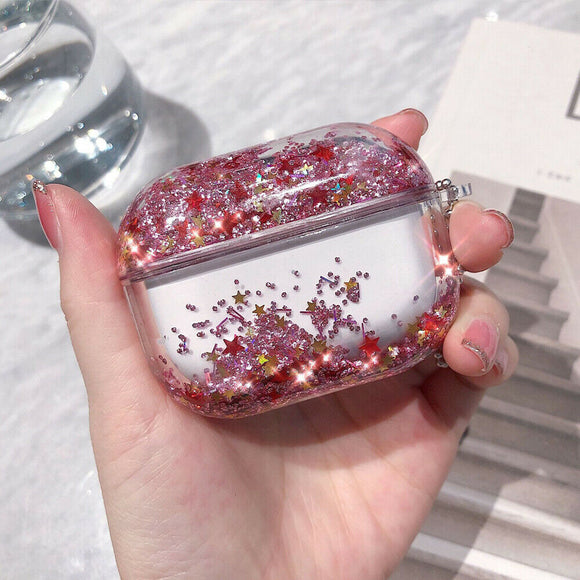 Airpods Pro Quicksand Glitter -  Pink