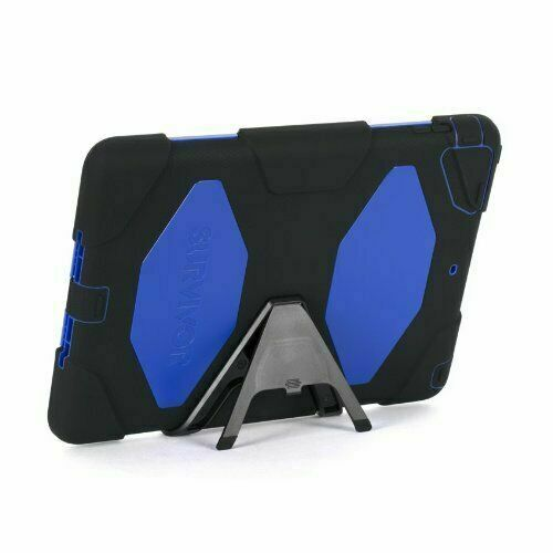 Griffin GB36403 Apple IPad Air Survivor Case, Black, Blue