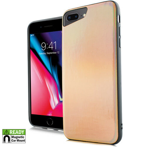 iPhone 7+ / 8+ PLUS - Rose Gold Iridescent Magnetic Back Hybrid Case Cover