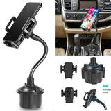 Universal Car Mount Adjustable Gooseneck Cup Holder Cradle for Cell Phone iPhone