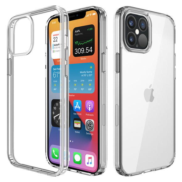 Shockproof Clear Hard TPU- iPhone 12/12 Pro (6.1)