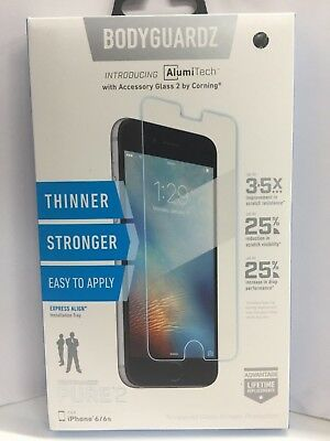 Bodyguardz Pure 2 Tempered Glass Screen Protector Apple Iphone 6 7 8