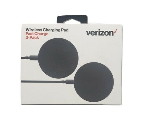 Original Verizon Wireless Fast Charge Charging Pad 2 Pack - Black
