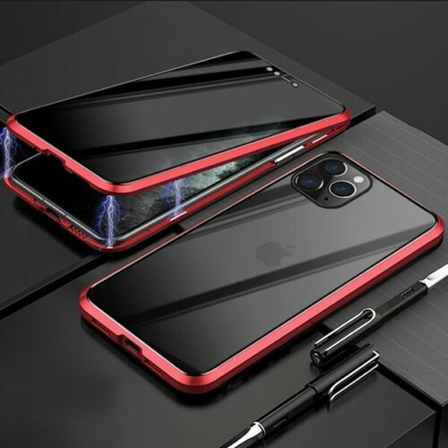 Privacy Magnetic Glass Case iPhone 11 pro (Red)