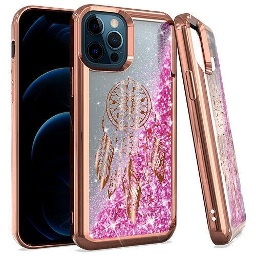 iPhone 12/12PRO CHROME Glitter Motion Dream Catcher ROSE GOLD