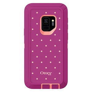 Otterbox Defender Series Screenless Edition Case for Galaxy S9-Black-Coral Dot