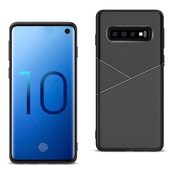 Samsung Galaxy S10 Plus Case Leather TPU Flexible Soft Protect Cover