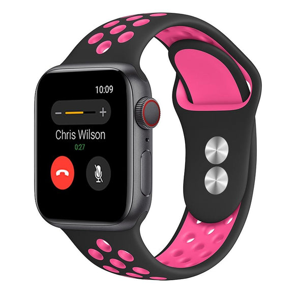 Apple Watch Sport band 38 mm 40 mm wrist band apple series 5/4/3/2/1 universal - Black and Pink