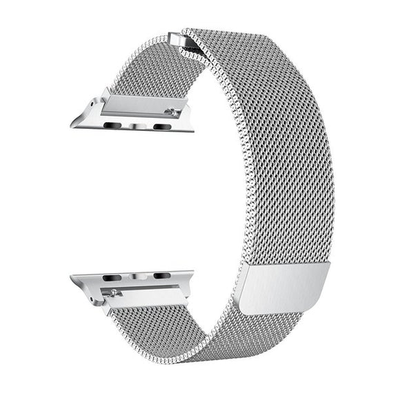Milanese strap for Apple watch band 42mm/44mm iwatch 4 band Stainless Steel Bracelet Milanese loop Apple watch 3 2 1 - SILVER