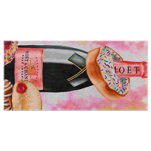 Champagne and Donuts Beach Towels