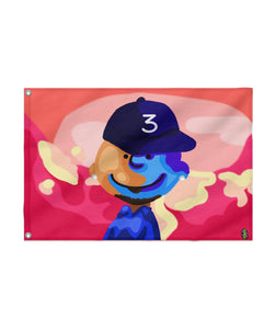 CHANCE THE RAPPER X CHARLIE BROWN Custom Flag 24x36